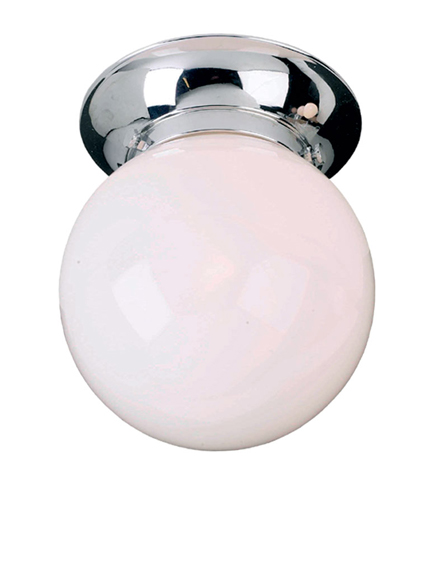 Lefroy Brooks Classic ceiling light with eight inch globe LB4003