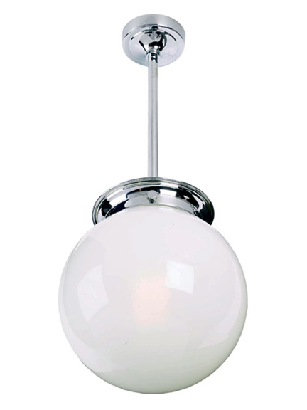 Lefroy Brooks Classic large globe drop ceiling light LB4006