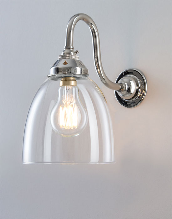 Old School Electric glass industrial wall light