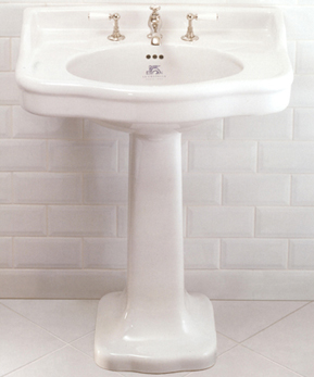 Lefroy Brooks La Chapelle pedestal washbasin