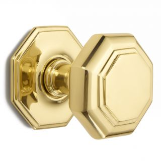 Flat octagon centre door knob