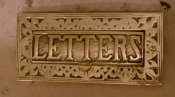 Decorated Letter plate