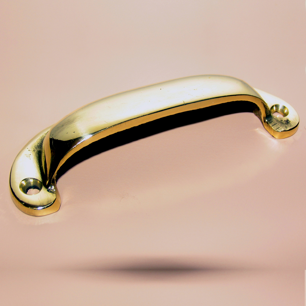 Cup Handle or Drawer Pull - Brass