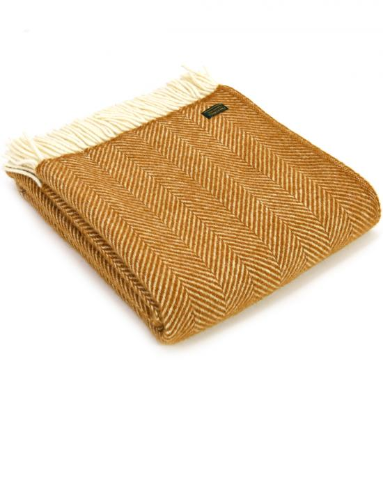 Fishbone Weave English Mustard Throw