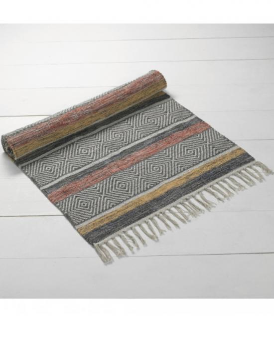 Helsingor Rug in Rust, Ochre, Slate & Natural