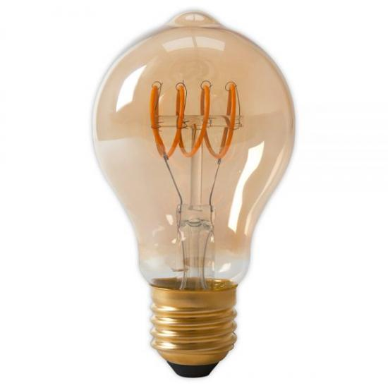 LED Curly Filament Bulb - 4w E27 Standard Gold